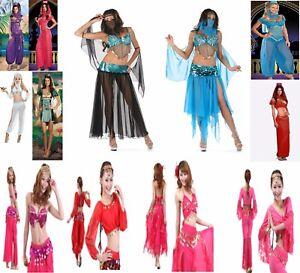 ARABIAN NIGHTS HAREM BELLY DANCER GENIE PRINCESS JASMINE ALADIN COSTUME