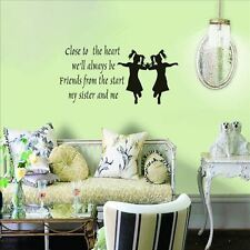 Huhome PVC Wall Stickers Wallpaper English poetry CLOSE TO twins living room hom