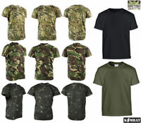 Kombat Kids Boys BTP Tactical T-shirt Army Combat Military Camo Soldier Cadet