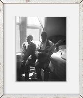 1940 Photo Joe Harris and Kid West in hotel room, Shreveport, Louisiana Location