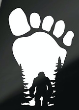 Bigfoot in Footprint Sasquatch Mythology | Die Cut Vinyl Sticker Decal Laptop