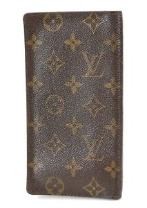 Authentic LOUIS VUITTON Monogram Long Credit Card Wallet #36388A