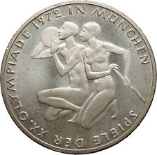 1972 Germany Munich Summer Olympics XX ATHLETES on 10 Mark Silver Coin i53631