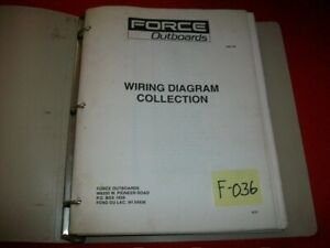 FORCE OUTBOARDS BINDER FULL OF WIRING DIAGRAMS,SERVICE BULLETINS & SUPPLEMENTS