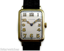 Spectacular 14k Gold Longines Vintage 1925 Large Men's Antique Watch High Grade