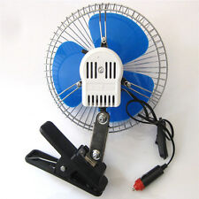 New Portable 12Volt 6Inch Car Cooling Fan with Clip Switch Outdoor Camping MDAU