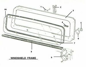 NEW REPLACEMENT WINDSHIELD GLASS WEATHER STRIP SEAL 1976-86 JEEP CJ CJ5 CJ7 CJ8