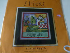 """Mill Hill Sticks """"Enjoy Life"""" Counted Cross Stitch Kit (1 of 4 in set)"""