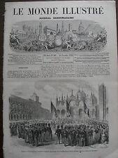 LE MONDE ILLUSTRE 1866 N 502 -  LE ROI VICTOR EMMANUEL A VENISE