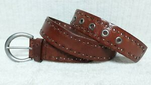 FOSSIL - Women's Belt - BROWN Floral Print Leather - Size M