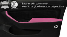 BLACK & PINK 2X FRONT DOOR HANDLE ARMREST COVERS FOR VW PASSAT B8 15-18 SALOON