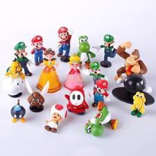 18 Piezas Mini Super Mario Bros Lote Figura de acción juguete de muñecas Lindo interesante S290