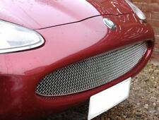 Jaguar XK8 XKR Stainless Mesh Grille w border in Black or Chrome Grill 97-04