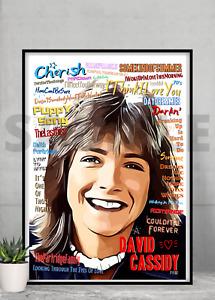 David Cassidy Partridge Family Word Portrait - Pop Art Keepsake/Gift/Collectable