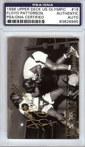 Floyd Patterson Autographed 1996 Upper Deck US Olympic Card #16 PSA/DNA 83826995