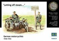 Masterbox 1:35 scale  - German Motorcyclists 1940 - 1943 MAS3539