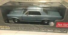 1965 Pontiac GTO BLUE 1:18 SunStar 1800 Brand New In box!