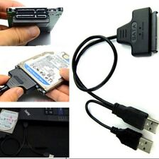 Hard Disk Drive SATA 7+15 22Pin to USB 2.0 Adapter Cable For 2.5 HDD SSD PC UK