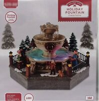 Christmas Holiday Fountain With Figurines, Lights Up, Christmas Decoration