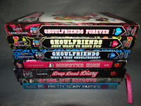6 monster high books lot GHOULFRIENDS scare-ific secrets + partly used diary