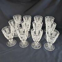 Lot of 12 Waterford Crystal Claret Wine Glasses Hibernia WATHIB-CLA Rare Exc
