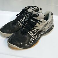 ASICS Gel-Rocket B257N Black/Silver Women's Volleyball Shoes Size 8.5