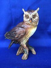Antique Primitive Barn Screech Halloween Decor OWL Great Horned Vintage Statue