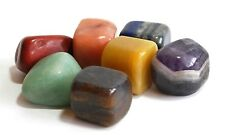 SALE REIKI ENERGY CHARGED HEALING CRYSTALS LARGE SEVEN CHAKRA TUMBLE STONE SET