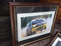 Seat Auriol Cordora Seat Rally Car Motorsport Scene Photograph Framed