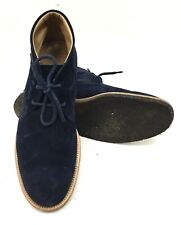 Tod's Desert Ankle Boots Blue Suede Mens Chukka Size UK 8 EU 41.5 $725 CAD