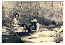 Nudism TOPLESS PICNIC / PICKNICK OBEN OHNE * Vintage 50s Nude Photo