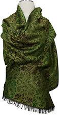 Schal Wolle Seide neue Kollektion, Braun Grüntöne scarf fóulard echarpe