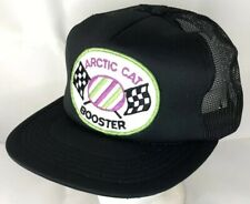 Vtg 80s Mesh Trucker Hat Snapback Patch Cap Arctic Cat Snowmobile Booster Race