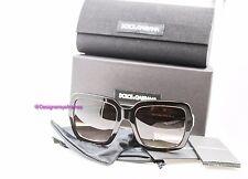 DOLCE & GABBANA 4273 502/13 Dark Havana Brown Grad Squared Sunglasses NWT AUTH