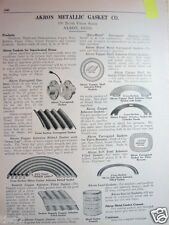 1926 AKRON METALLIC GASKET CO Ohio Catalog Pg Copper ASBESTOS Boiler Products