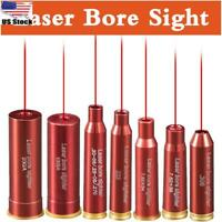 Red Dot Laser Cartridge Bore Sighter Copper Sighting Scope Hunting Tactical US