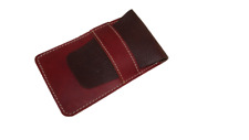 More details for real leather pen case 3-4 pens handmade pouch roller ballpoint fountain pouch uk