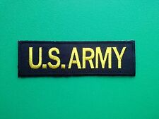 NOVELTY MILITARY U.S. FORCES SEW ON / IRON ON PATCH:- U.S. ARMY (c) STRIPE