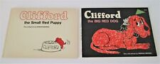 2 Vintage Books Clifford the Red Dog & The Small Red Puppy Books 1963 1972