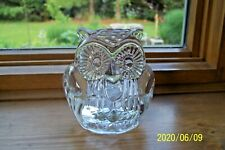 Vintage Glass Owl Votive Candle Holder By Partylite.