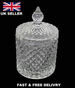 Crystal Glass Home Sweets Sugar Fancy Glassware Crystal Jar