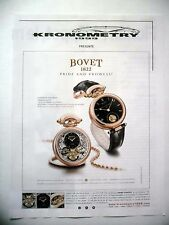 PUBLICITE-ADVERTISING :  BOVET Amadeo Fleurier  2015 Kronometry,Montres