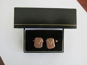 Antique Australian 9ct Gold Mens Cufflinks Apex Melbourne Suitable for Initials