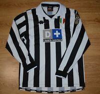 JUVENTUS ITALY 1998/1999 HOME FOOTBALL SHIRT JERSEY KAPPA SIZE XL LONG SLEEVE