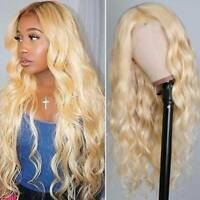 #613 Blonde Body Wave Full Wigs 9A 100% Malaysian Remy Human Hair Wig Glueless J