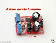 Generador de impulsos con NE555, ajuste de frecuencia y ancho de impulso