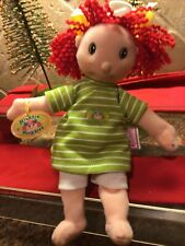 """Bertha Zapf Creation 9� Maggie Raggies Baby Doll Cloth Body Red Yarn Hair"