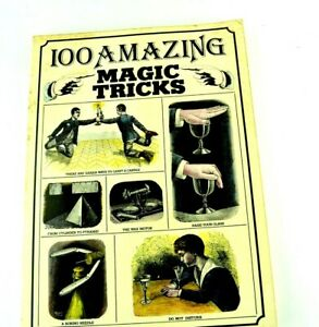 100 Amazing Magic Tricks Pinaccle Books New York How To Learn 1977 w/ 127 pages