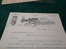 1895 Old Letter: Strother Tobacco Gloss Co. Lynchburg VA, Signed C.W. Gooch Sec.