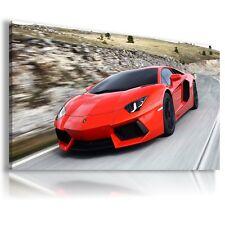 LAMBORGHINI AVENTADOR RED Sport Cars Large Wall Canvas Picture ART AU357 MATAGA